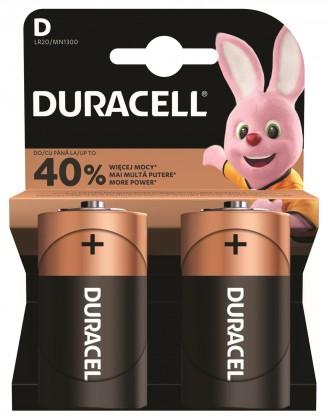 Baterie Duracell Basic, LR20, 2ks