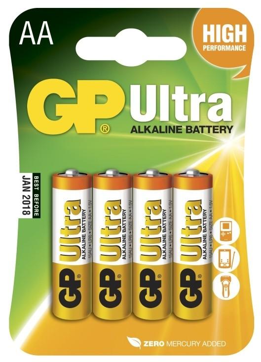 Baterie GP Ultra Alkaline AA 4ks