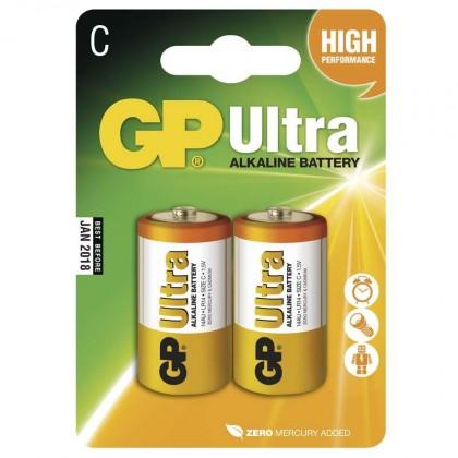 Baterie GP Ultra Alkaline, C, 2ks
