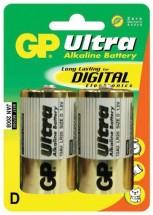 Baterie GP Ultra Alkaline, D, 2ks