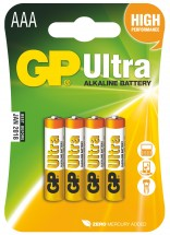 Baterie GP Ultra Plus, AAA, 4ks