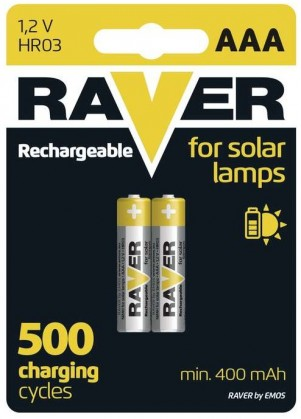 Baterie Raver NiMH, AAA, 400mAh, 2ks