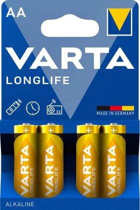 Baterie Varta Longlife, AA, 4ks