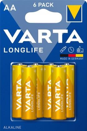 Baterie Varta Longlife Extra, AA, 6ks