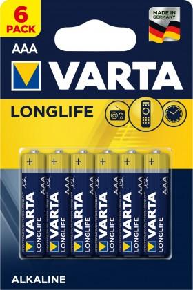 Baterie Varta Longlife Extra, AAA, 6ks