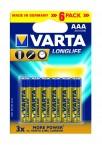 Baterie Varta Longlife Extra AAA 6ks