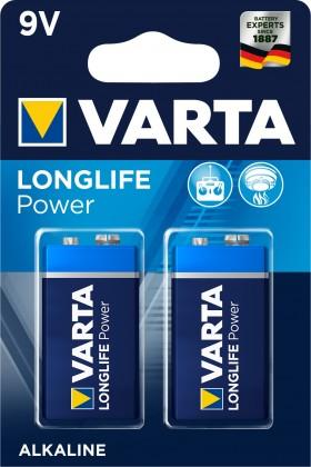 Baterie Varta Longlife Power, 9V, 2ks
