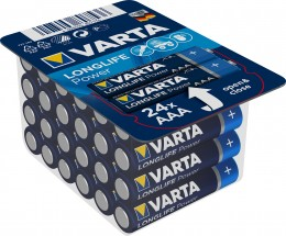 Baterie Varta Longlife Power, AAA, 24ks