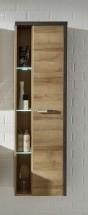 Bay - Koupelnová skříňka vysoká, závěsná (dub, beton)