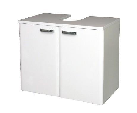 Bazar koupelny Melbourne - Skříňka pod umyvadlo, dvířka (bílá/bílá)