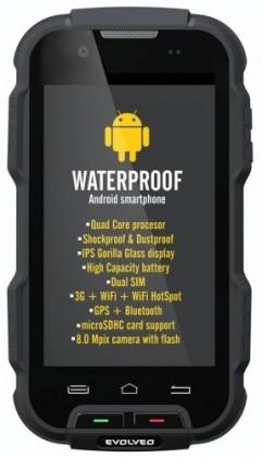 Bazar mobily, GPS Evolveo StrongPhone Q4, černá ROZBALENO