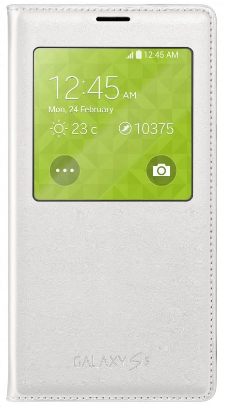 Bazar mobily, GPS Samsung pouzdro S-View pro Samsung Galaxy S5,bílá POUŽITÉ