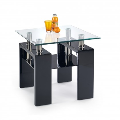 Bazar obývací pokoje Diana H kwadrat - Konferenční stolek (černá)