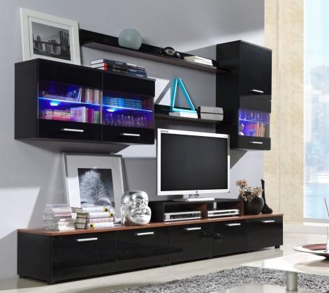 Bazar obývací pokoje Logo II (černá/švestka/černá VL)