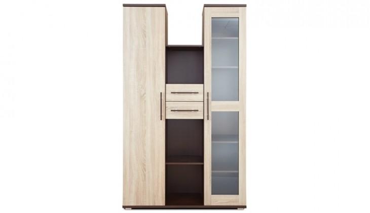 Bazar obývací pokoje Sestava Oliver, 2x skříň (wenge/dub sonoma)