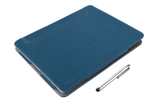 Bazar počítače, tablety Trust eLiga Elegant Folio Stand + stylus for iPad,modrá ROZBALENO