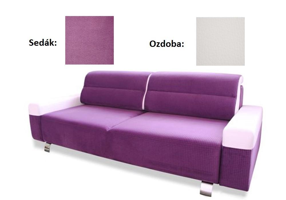 Bazar sedací soupravy Foggia - Pohovka (casablanca 2311, sedák/madryt new 120, ozdoba)