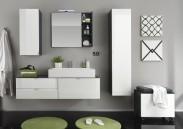 Beach - Koupelnová sestava s umyvadlem 80 cm (šedá, bílá)