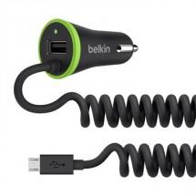 BELKIN Micro USB autonabíječka,3.4A, černá, + Micro USB kabel