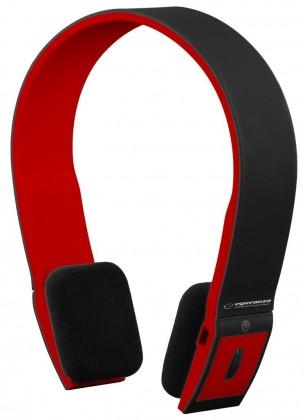 Bezdrátová Esperanza EH135KR CITY BEAT BT 2.1 sluchátka, černo-červená