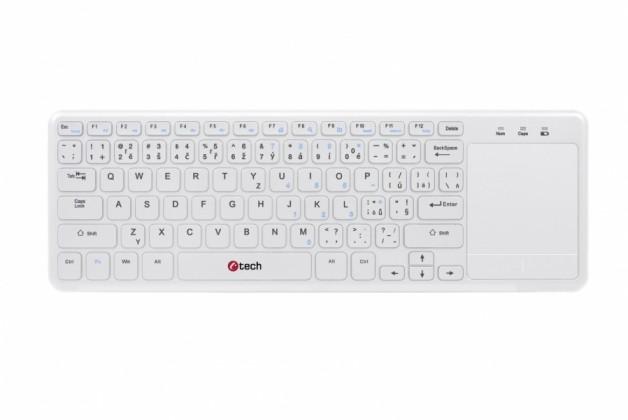 Bezdrátová klávesnice C-TECH WLTK-01W, CZ/SK