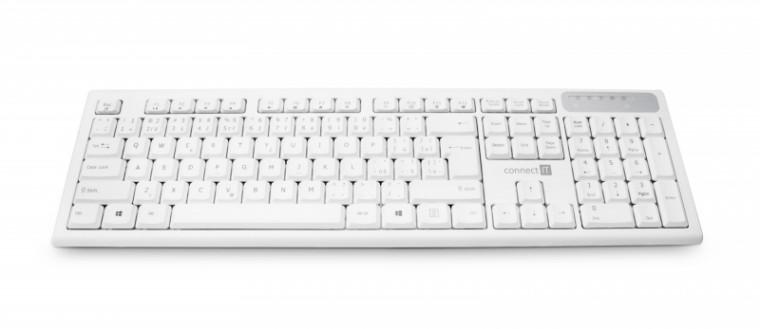 Bezdrátová klávesnice CONNECT IT CKB-3010, bílá, CZ/SK CKB-3010-CS