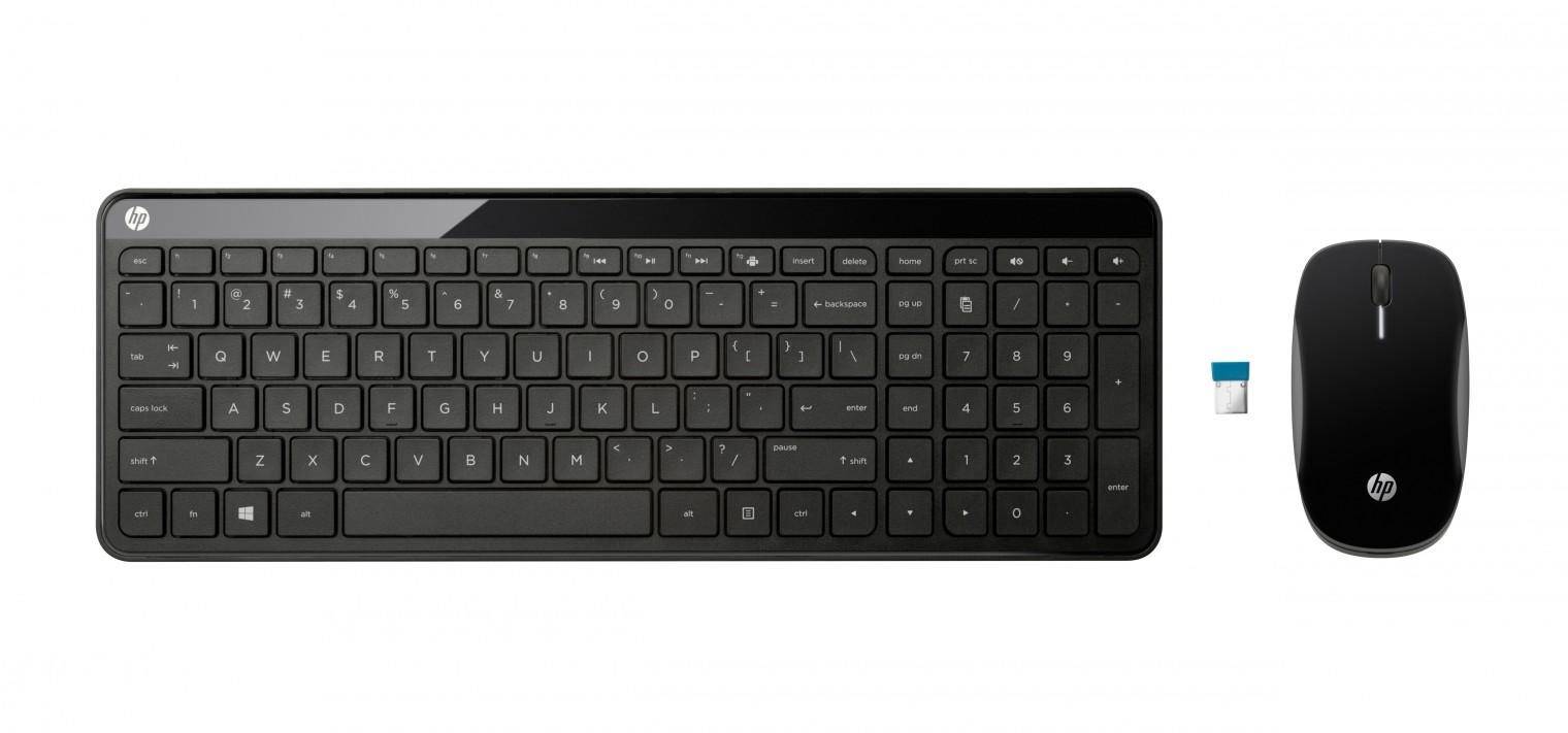 Bezdrátová klávesnice HP C6020, set klávesnice a myši, CZ P0Q51AA#AKB