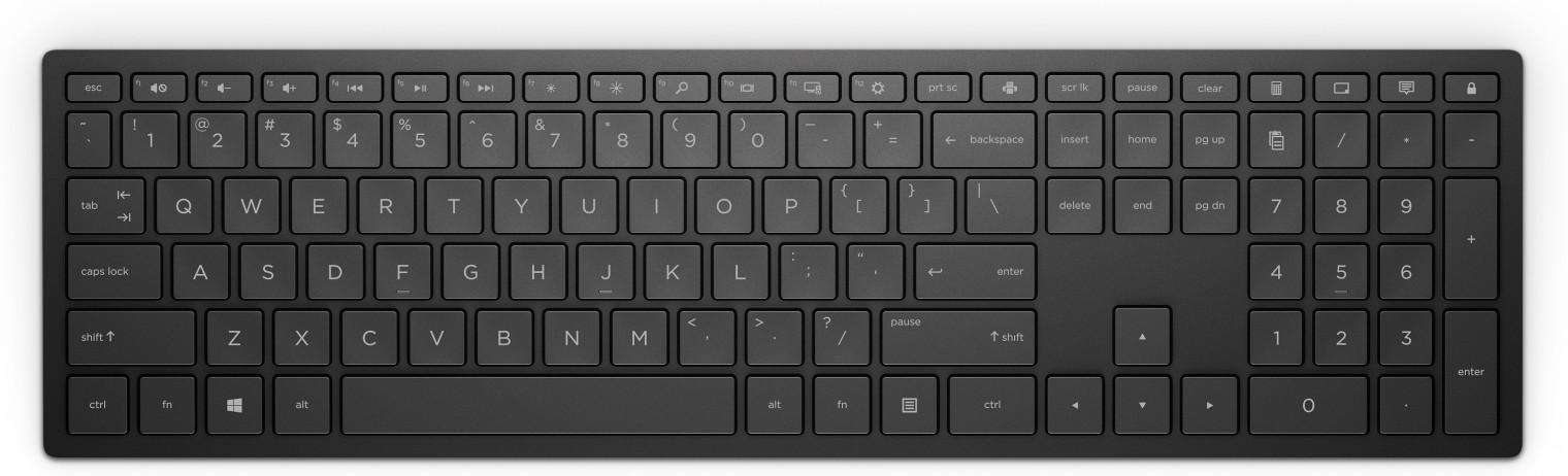 Bezdrátová klávesnice Klávesnice HP Pavilion Wireless Key 600 CZ