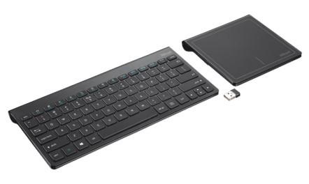 Bezdrátová klávesnice Trust Skid & Touchpad USB CZ, černá
