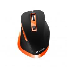 Bezdrátová myš Canyon CNS-CMSW14BO, černo-oranžová
