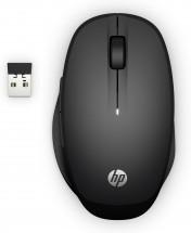 Bezdrátová myš HP 300 Dual Mode - černá + Zdarma podložka Olpran