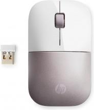 Bezdrátová myš HP Z3700 - white pink + Zdarma podložka Olpran
