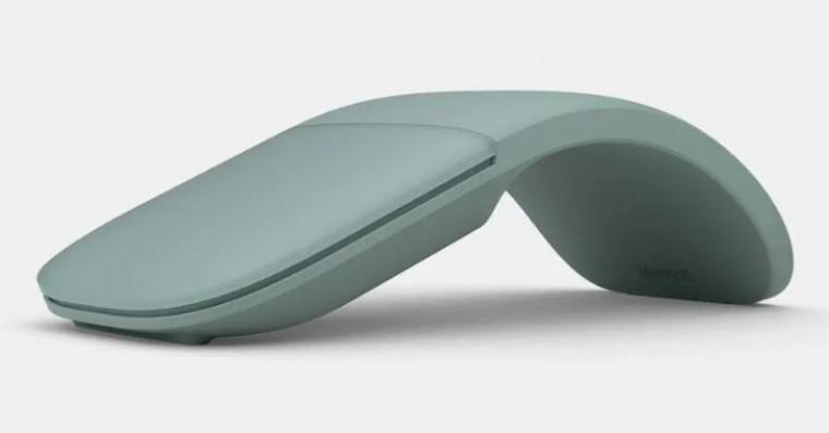 Bezdrátová myš Microsoft Arc Mouse Bluetooth 4.0, světle zelená