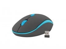 Bezdrátová myš Natec Martin 1600 DPI, černo-modrá