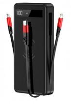 Bezdrátová powerbanka 4v1 Lightning/Micro USB/USB-C, 20 000 mAh
