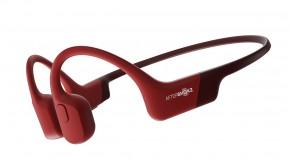 Bezdrátová sluchátka AfterShokz Aeropex, červená