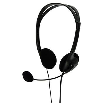 Bezdrátová sluchátka BasicXL sluchátka s mikrofonem k PC, černé - BXL-HEADSET1BL