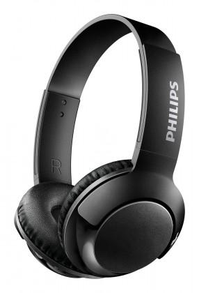 Bezdrátová sluchátka Bezdrátová sluchátka přes hlavu Philips  SHB3075BK, černá