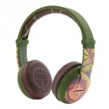 Bezdrátová sluchátka BuddyPhones Wave Monkey, zelená