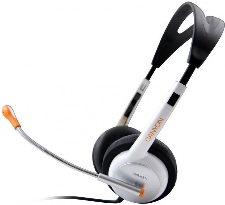 Bezdrátová sluchátka Canyon CNR-HS11 bílá oranžová