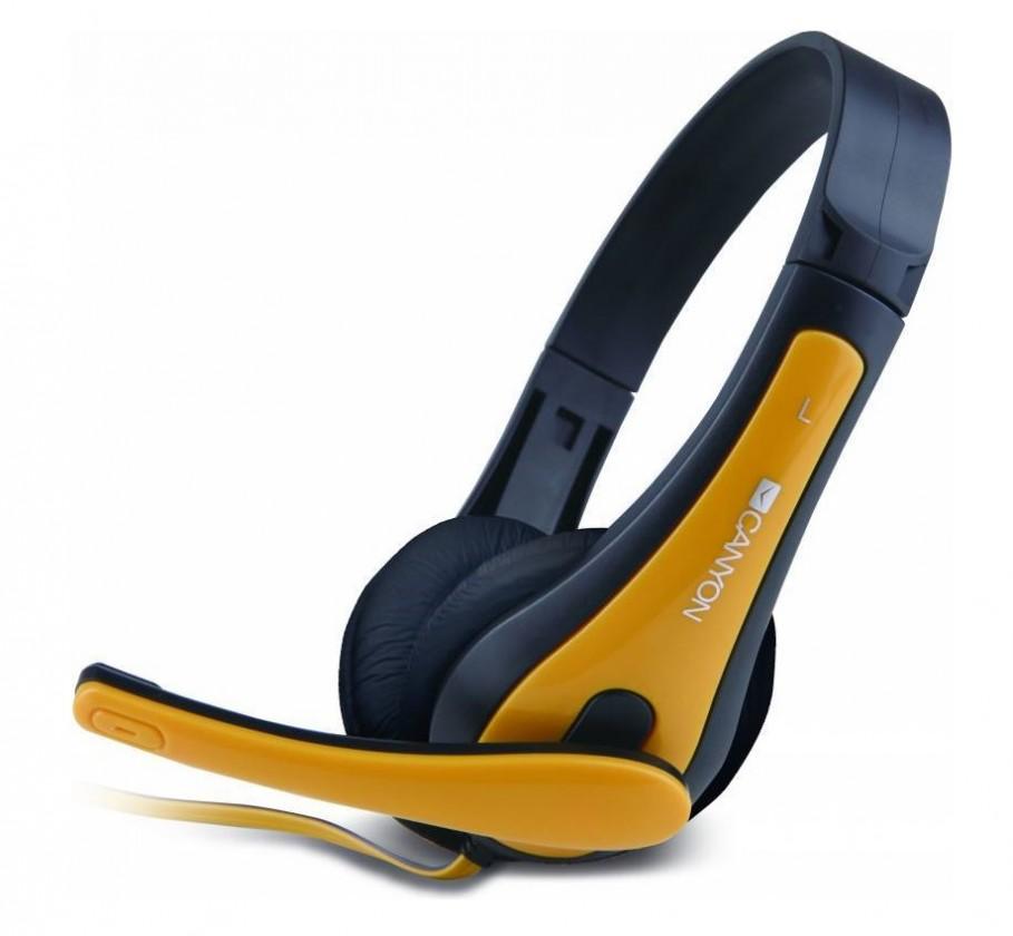 Bezdrátová sluchátka Canyon CNS-CHSC1BY, černý žlutý