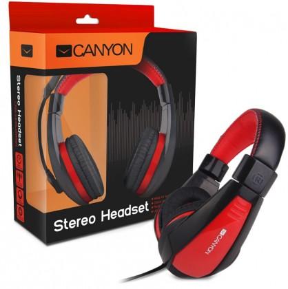 Bezdrátová sluchátka Canyon CNS-HHSU2BR, černý červený