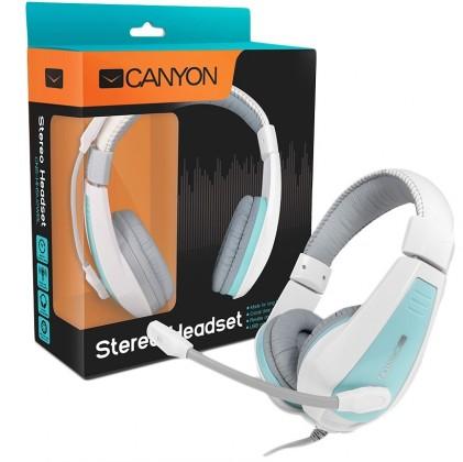 Bezdrátová sluchátka Canyon CNS-HHSU2WBL, bílý modrý