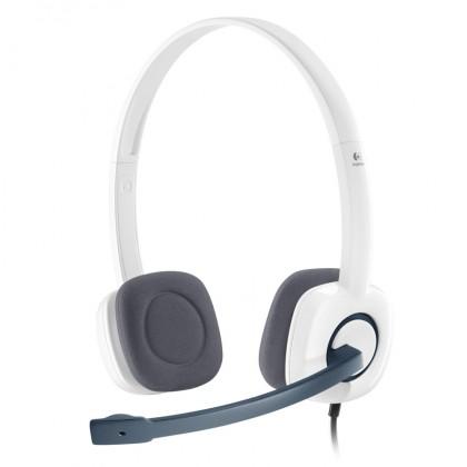 Bezdrátová sluchátka Logitech Stereo Headset H150 Coconut, 3,5 mm