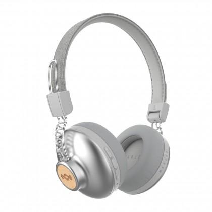 Bezdrátová sluchátka Marley Positive Vibration, stříbrná