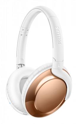 Bezdrátová sluchátka Sluchátka Philips SHB4805RG (SHB4805RG/00) bílá/zlatá