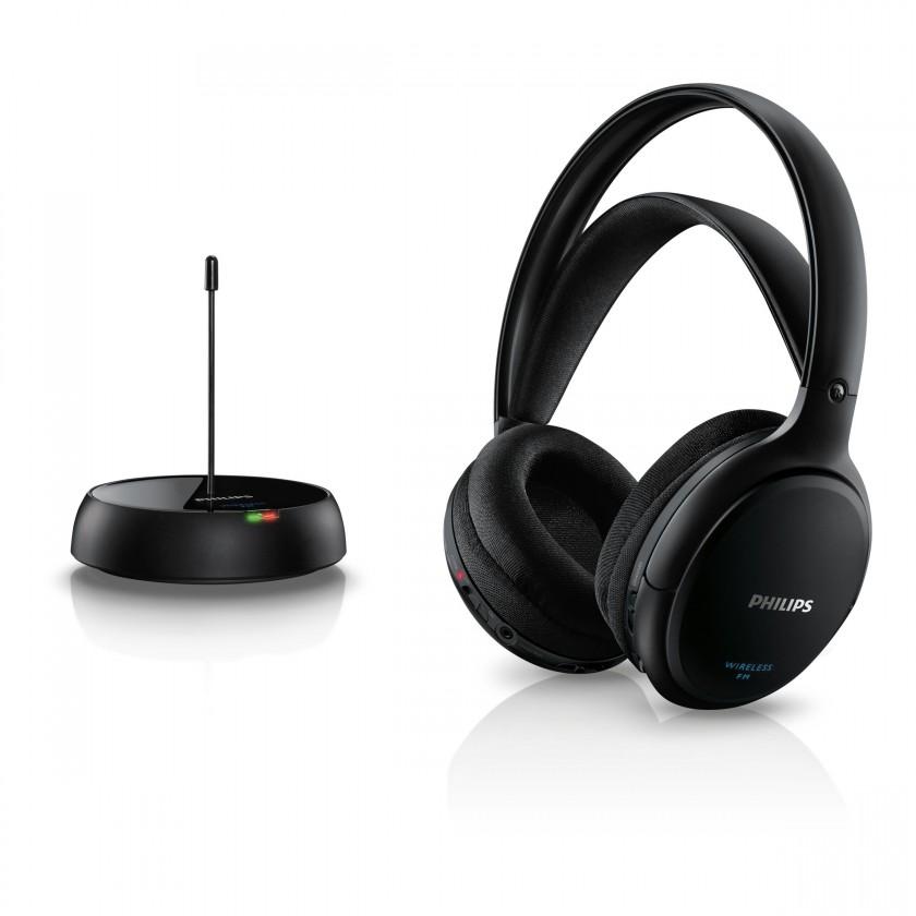 Bezdrátová sluchátka Sluchátka Philips SHC5200 (SHC5200/10) černá