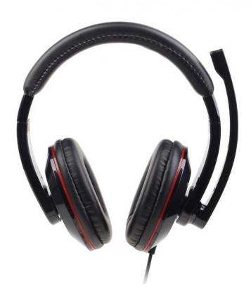 Bezdrátová sluchátka Sluchátka s mik Gembird MHS-U-001 Gaming black, USB
