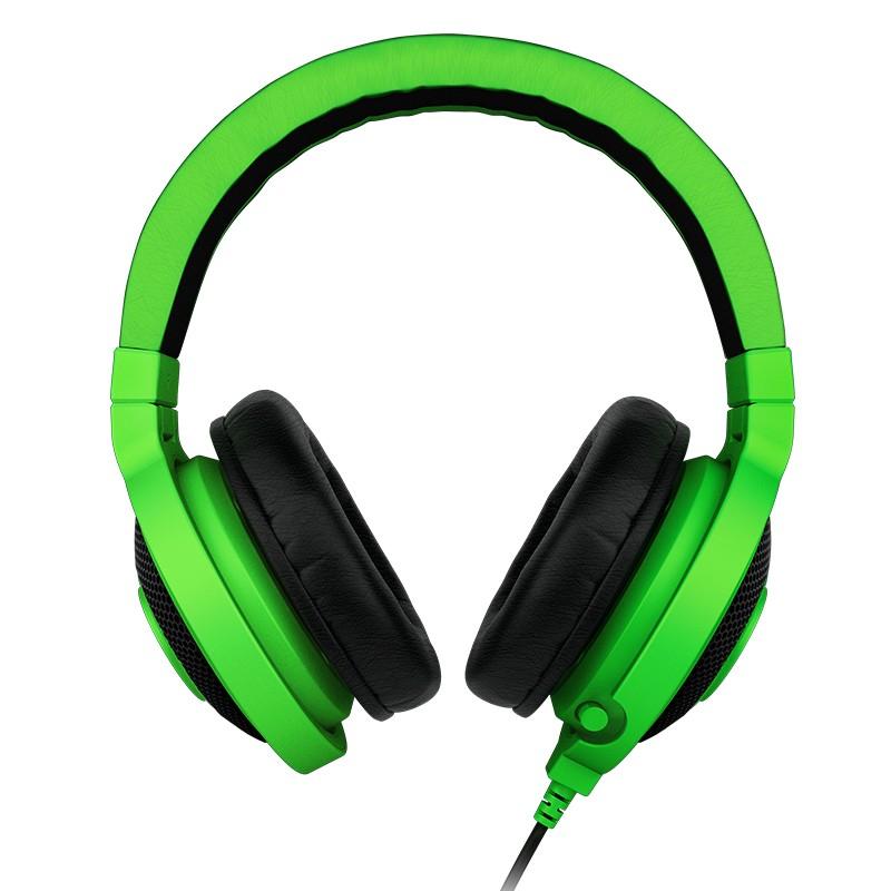 Bezdrátová sluchátka Sluchátka s mikrofonem Razer Kraken Pro Green, zelená