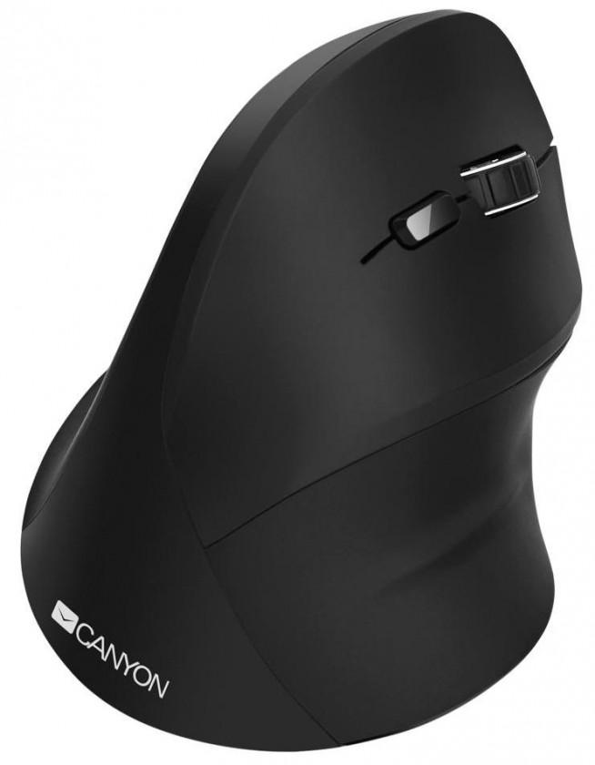 Bezdrátové myši Bezdrátová myš Canyon CNS-CMSW16B, vertikální, ergonom., černá